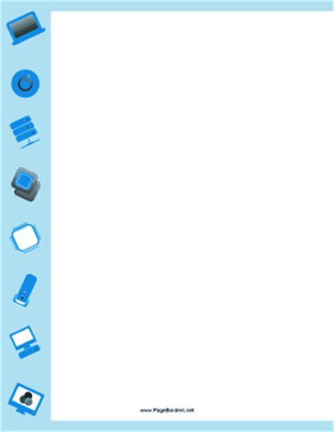 blue computer border
