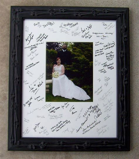 framing a signed mat from a wedding greencottagegallery