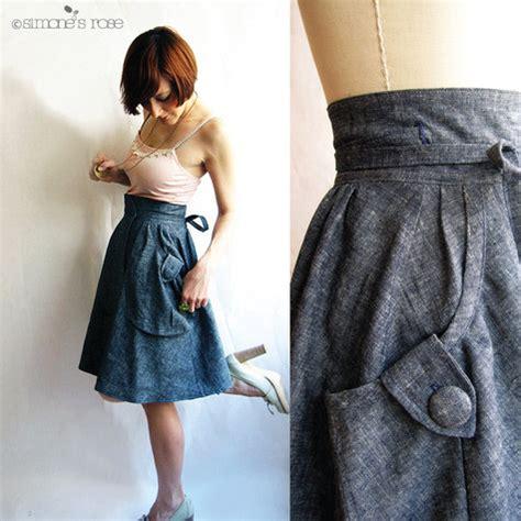 Tutorial Preview Diy A Line Skirt W Pockets by Heartland Organic Denim Wrap Around Skirt Sewing