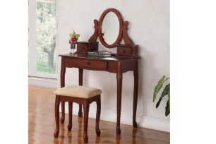 Poundex Vanity Vanity Set W Stool Vanities Bedroom Furniture