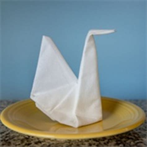 Swan Paper Napkin Folding - paper napkin folding fancy napkin folds napkins