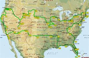 Usa Road Trip Map by Family Road Trip Usa