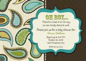 paisley buckaroo baby shower invitation
