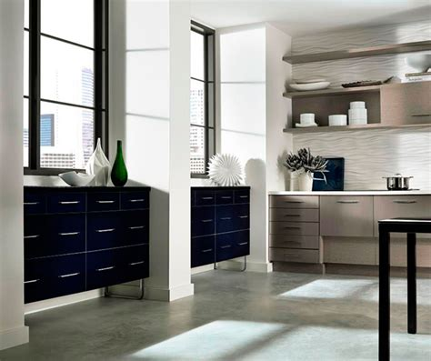 acrylic kitchen cabinets with melamine accents kitchen craft
