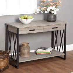 entry way table console sofa table living home furniture decor room