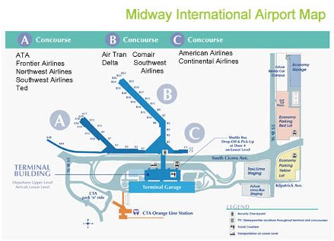 chicago midway map midway airport diagram chicago