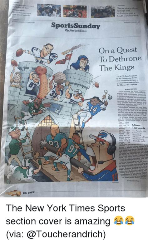 ny times sports section funny afc east memes of 2016 on sizzle england