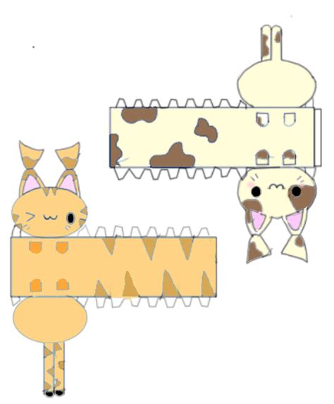 Easy Papercraft - peace crafts papercraft kitties