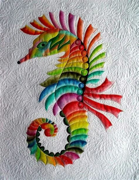 colorful seahorse colorful seahorse quilting sewing ideas