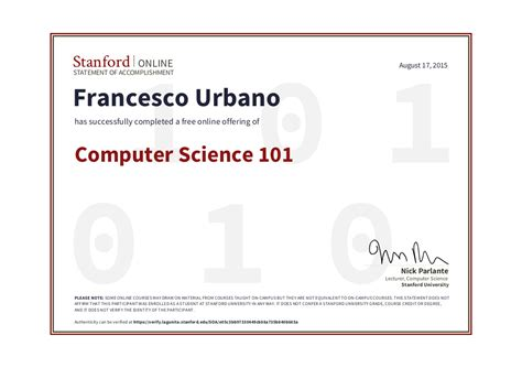 Stanford Masters Computer Science Mba by Computer Science Francesco Urbano