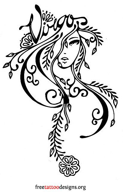 virgo flower tattoo designs virgo tattoos 50 designs and ideas