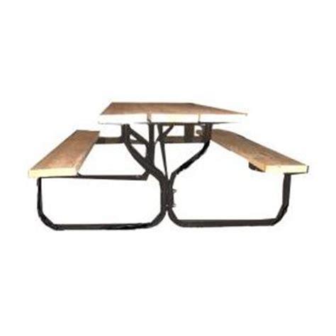 picnic table frame kit home depot black picnic table frame kit cing