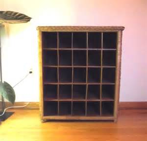 Cubby Storage Unit Large Wicker Cubby Vintage Storage Unit Pick By