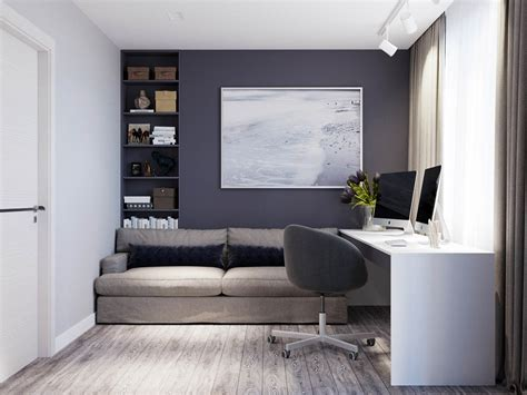 cozy home office 2 modern homes the use grey for a calming effect