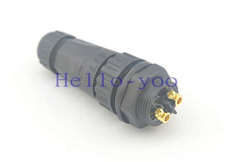 waterproof led light connector m22 2 pin led light l waterproof connector ip68 electrical panel mount contacts adapter black jpg