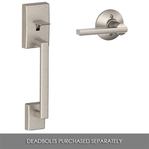 Schlage Exterior Door Hardware Doorknobsonline Offers Schlage Shl 119981 Handleset Satin Nickel Schlage Door Hardware