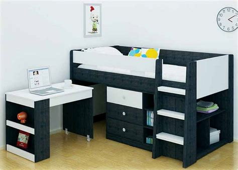 Bunk Bed Brisbane Midi Sleeper Single Bed With Desk And Storage Bambino Home