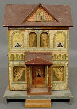 r bliss dollhouse dollhouse bliss lithographed paper on wood 2 story
