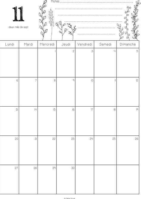 calendrier novembre 2017 224 imprimer calendriers