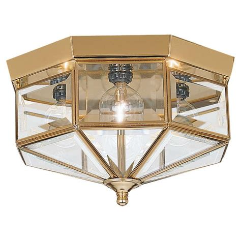 Brass Light Fixtures Ceiling Sea Gull Lighting Four Light Bound Glass Ceiling In Polished Brass 7662 02 Ebay