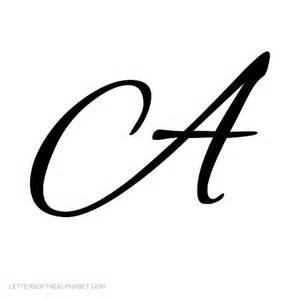 letters of the alphabet in cursive black