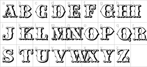 tattoo fonts western western letters designs
