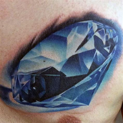 blue diamond tattoo 70 designs for precious ink