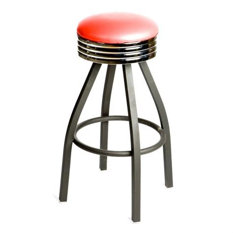 Passing Stools by Oak Sl2137 Swivel Bar Stool Backless Retro