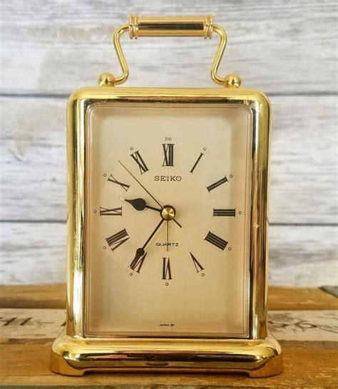 seiko brass desk clock brass quartz clock for sale classifieds