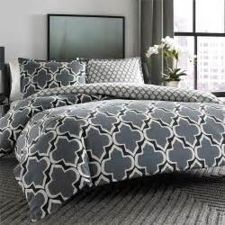 black and grey duvet set modern cotton black grey white reversible geometric duvet