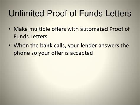 Instant Proof Of Funds Letter