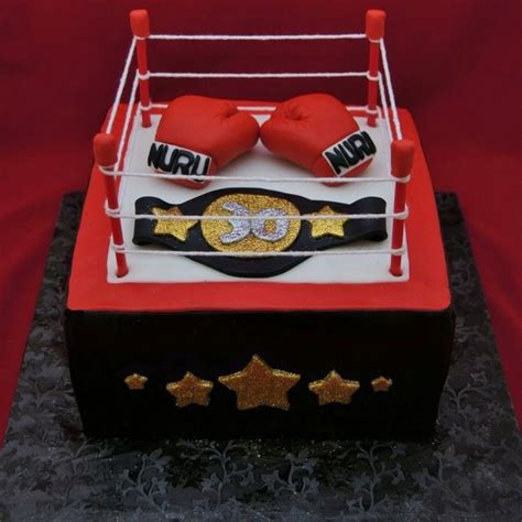 boxing theme decorations boxing ring cake cake decorating cakes