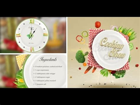 Cooking Show Template Cooking Show Pack After Effects Template
