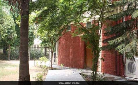 Fms Delhi Mba Courses by Du Fms Admission 2018 Registration Starts For