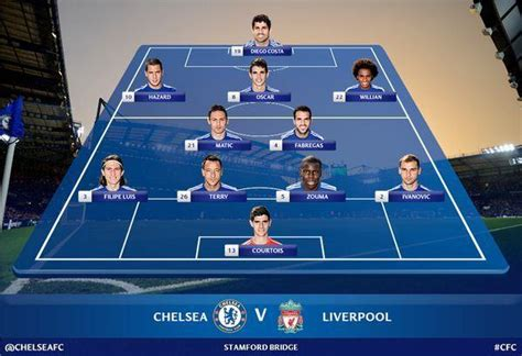 chelsea line up capital one cup semifinal chelseateam news and chelsea