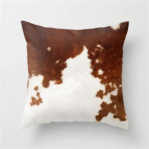 Cowhide Pillow - cowhide pillow cow print pillow brown and white cow pattern
