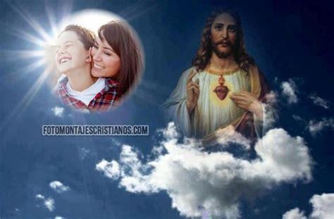 imagenes de jesucristo en el cielo sagrado coraz 243 n archivos fotomontajes cristianos