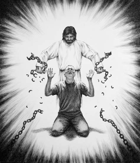 freed set 2 jesus breaking chains image 8 32 36 person on knees