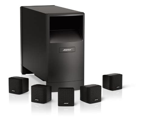 bose acoustimass 6 home entertainment speaker system black