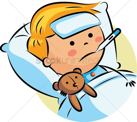 has fever boy with fever vector image 2022133 stockunlimited