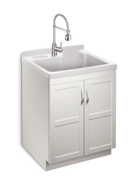 home depot garage sink glacier bay deluxe all in one laundry cabinet the home