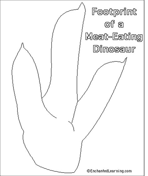 pin dinosaur footprint template on pinterest