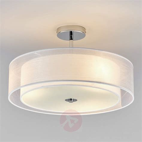 pikka led ceiling light with a white lshade lights co uk