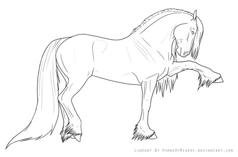 coloring pages of friesian horses spanish walk lineart by hymnsie on deviantart