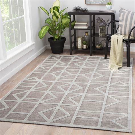gray geometric rug cannon geometric gray white area rug design by jaipur burke decor