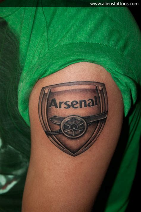 tattoo logo arsenal arsenal logo tattoo inked by sunny at aliens tattoo mumbai