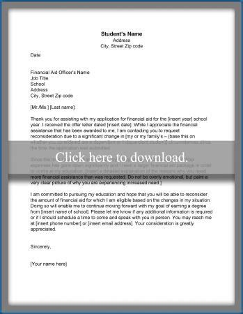 Financial Aid Appeal Letter Mental Illness sle financial aid appeal letter lovetoknow