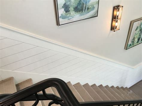 shiplap  stairwell stair walls stairwell wall