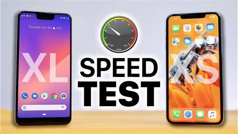 pixel 3 xl vs iphone xs max speed test