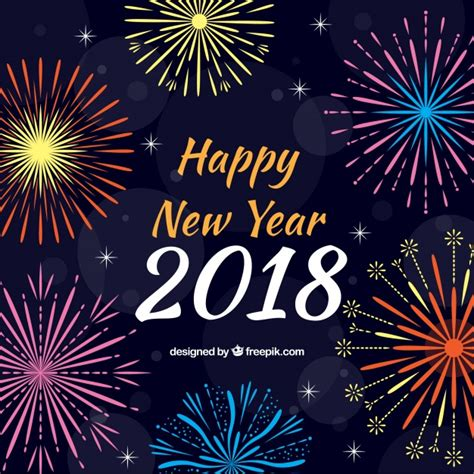 new year background free vector new year fireworks background vector free